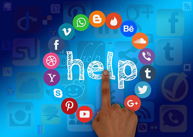 Ayuda en redes sociales para los inversores
