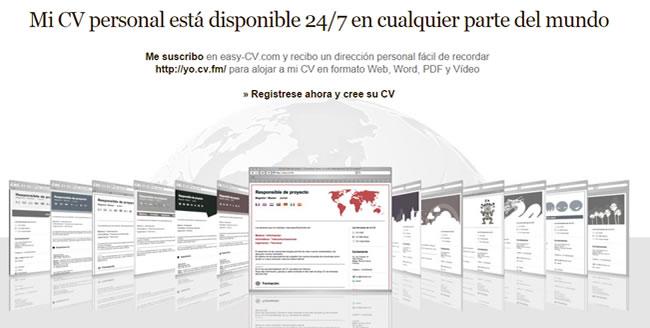 Currículum vitae accesible en internet y en varios idiomas