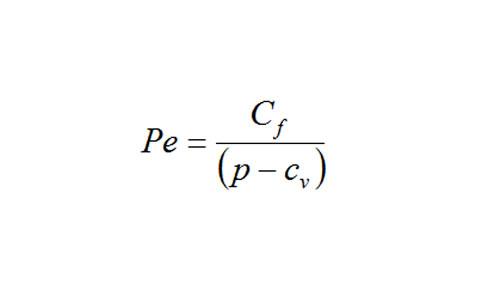 formula punto de equilibrio negocio