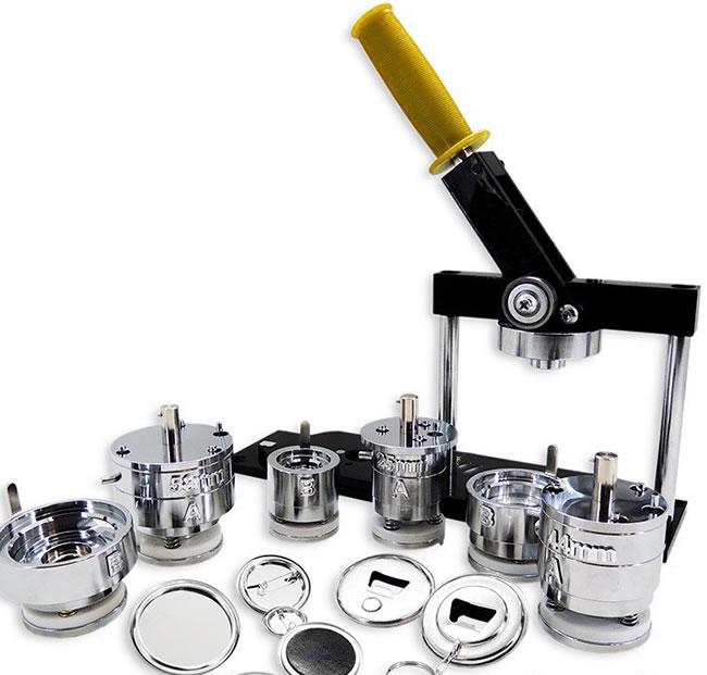 Máquina o troquel para hacer chapas y pins